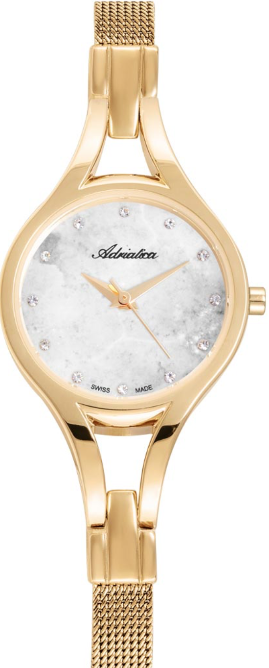 Наручные часы Adriatica Ladies A3508 перламутровый белый/стальной