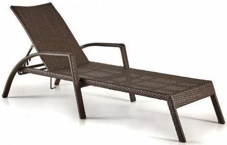 Шезлонг-лежак Афина-Мебель A30A-W53 коричневый (без матраса)