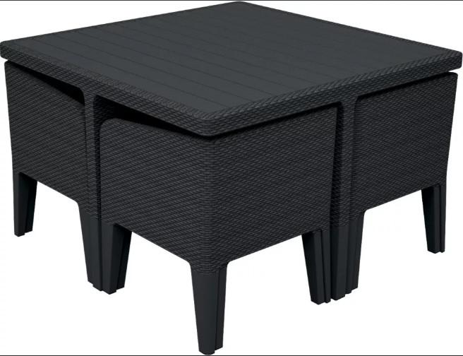 Комплект мебели Keter Columbia Set 5Pcs графитовый/серый