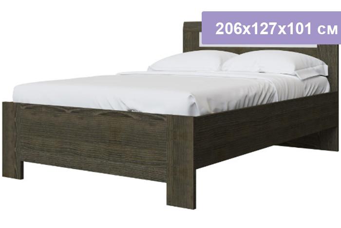 Двуспальная кровать Интердизайн Тоскано Лайт ясень темный/белый 206x127x101 см