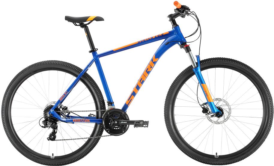 "Велосипед Stark Router 29.3 HD (2020) синий/оранжевый 29""/22"""