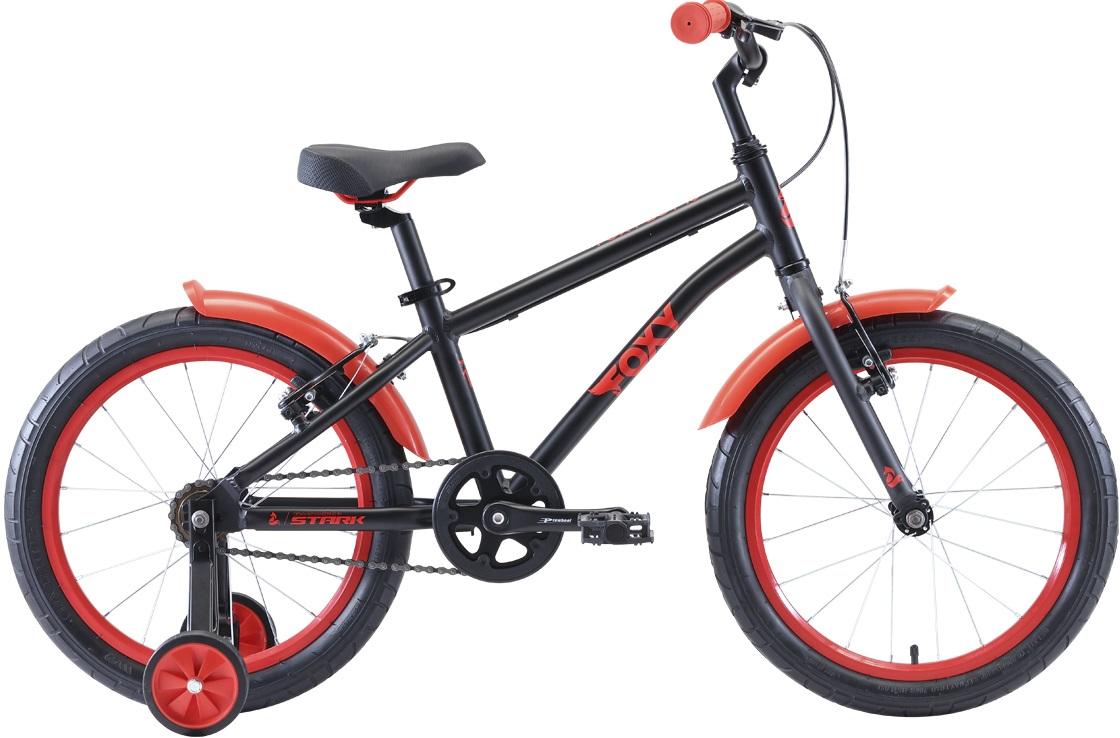 """Велосипед Stark Foxy 18 Boy (2020) черный/красный 16""""/-"""