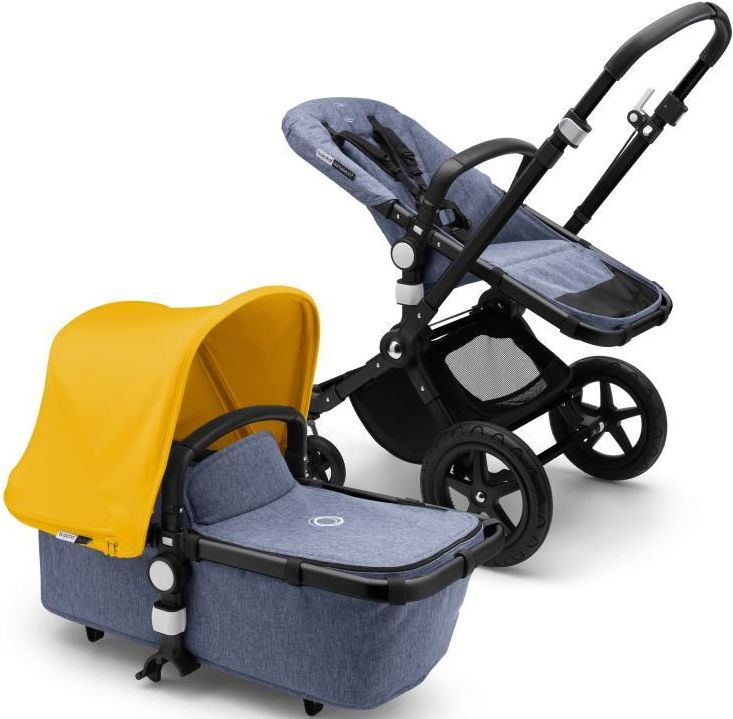 Автокресло Bugaboo Cameleon 3 Plus 2в1 Black/Blue Melange/Sunrise Yellow