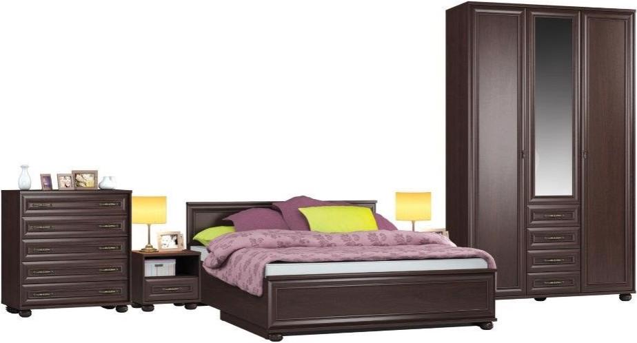 Спальня Столплит Верди 114-375-258-6313 махагон (набор 1)