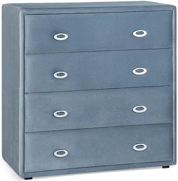 Комод Цвет Диванов Адель темно-голубой 90x46x93 см