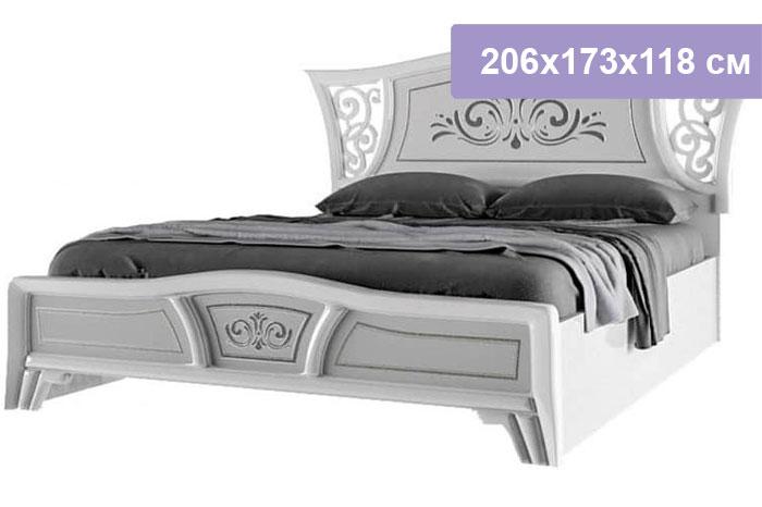 Двуспальная кровать Интердизайн Винтаж белый/белый 206x173x118 см (ортопедическое основание)