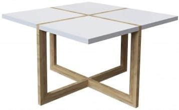 Журнальный столик Интердизайн Моби дуб/белый 480x800x800 см