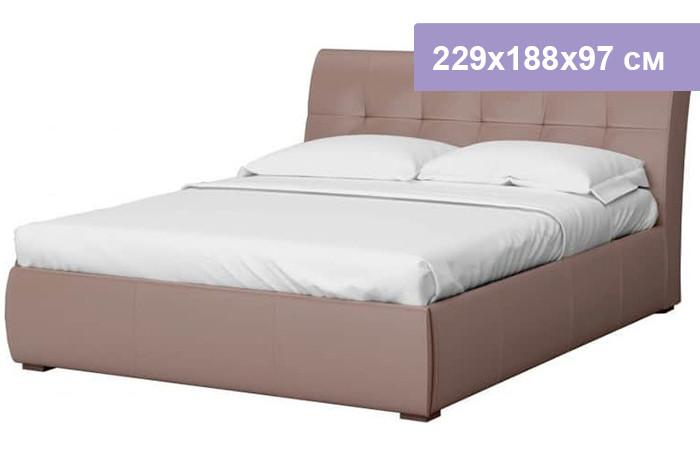 Двуспальная кровать Интердизайн Бьянка коричневый/коричневый 229x188x97 см (ортопедическое основание)
