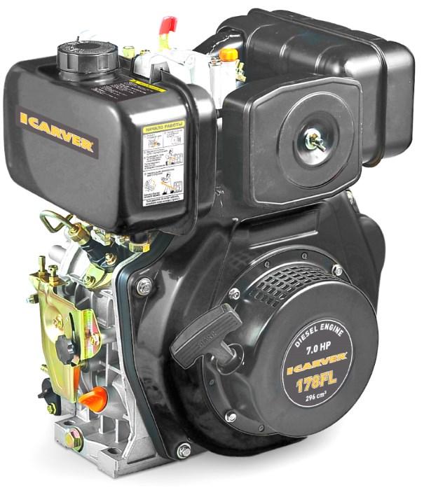Двигатель Carver 178FL (без катушки, 7 л.с.)