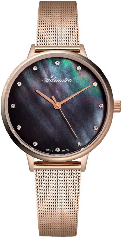 Наручные часы Adriatica Milano A3573 перламутровый черный/стальной
