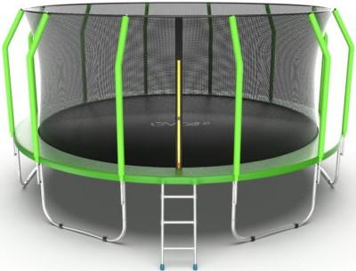Батут Evo Jump Cosmo 16FT Green (с внутренней сеткой и лестницей)
