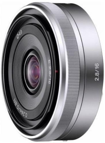 Объектив Sony E 16mm f/2.8 Silver