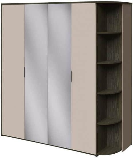 Шкаф Интердизайн Тоскано ясень темный/капучино 2209x2070x599 см