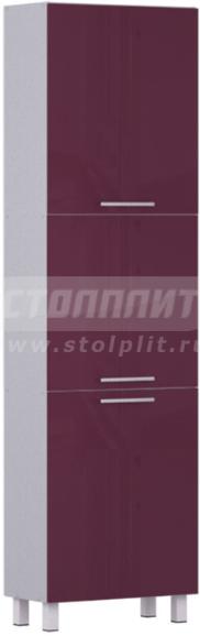 Пенал Столплит Анна 301-560-360-0917 алюминий/баклажан 60x214x29 см
