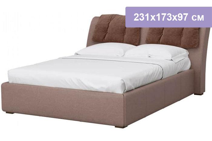 Двуспальная кровать Интердизайн Моника коричневый/коричневый 231x173x97 см (ортопедическое основание)