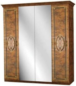 Шкаф Интердизайн Лара коричневый/коричневый 2148x1864x620 см
