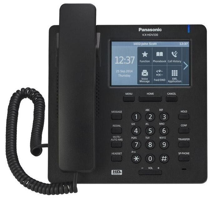 IP-телефон Panasonic KX-HDV330 Black