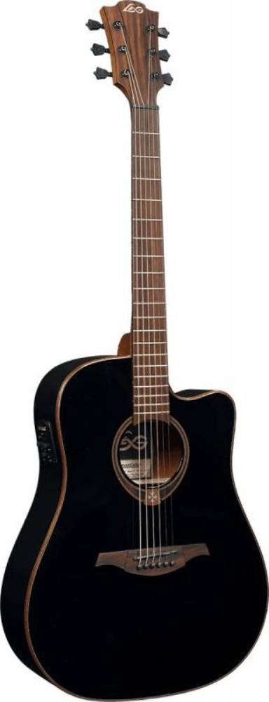 Акустическая гитара LAG GLA T118DCE-BLK
