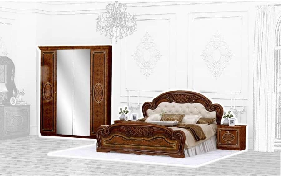 Спальня Интердизайн Лара коричневый/коричневый (композиция 2)