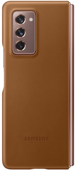 Чехол Samsung Leather Cover Galaxy Z Fold 2 Brown