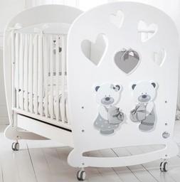Кроватка Baby Expert Bon Bon белый/серый
