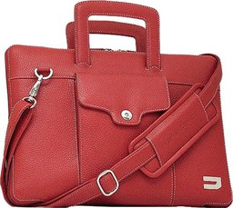 Urbano Leather Habdbag Red