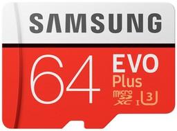 Карта памяти Samsung EVO+ 64Gb