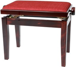Gewa Piano Bench Deluxe Mahogany High...