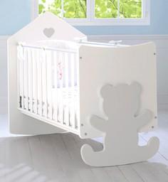 Кроватка Baby Expert Casetta бело-сер...