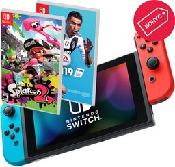 Nintendo Switch Neon Red/Neon Blue + ...