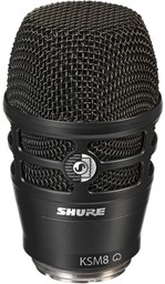 Shure RPW174 Black KSM8 Wireless Caps...