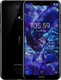 Смартфон Nokia 5.1 Plus TA-1105 LTE 3...