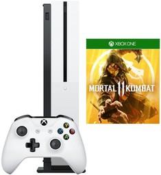 Microsoft Xbox One S 1Tb White + Mort...
