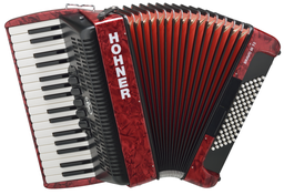 Hohner The New Bravo III 72 Red...
