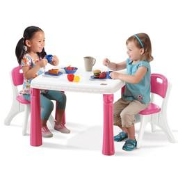 Стол Step2 розовый (со стульями)