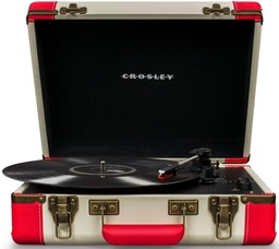 Crosley Executive Deluxe Red with Blu...