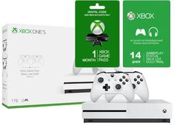 Microsoft Xbox One S 1Tb White two co...